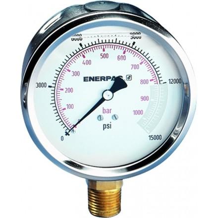 Manometro de presion hidraulica 4 0 15 000 psi as for Manometro para medir presion de agua